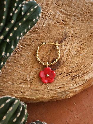 NACH BIJOUX - Red Flower Mini Earrings J388