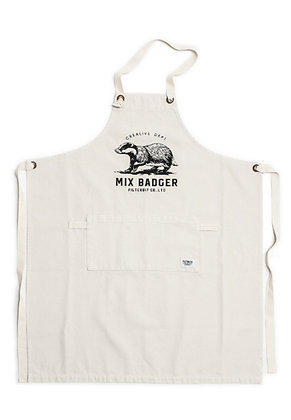 Filter017 Mix Badger Apron - White