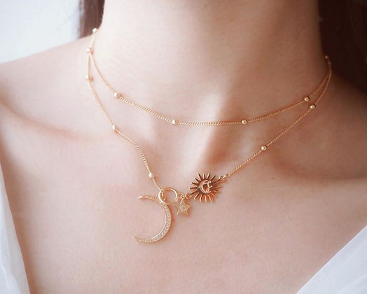 Love By The Moon - Stellar 2 Way Necklace