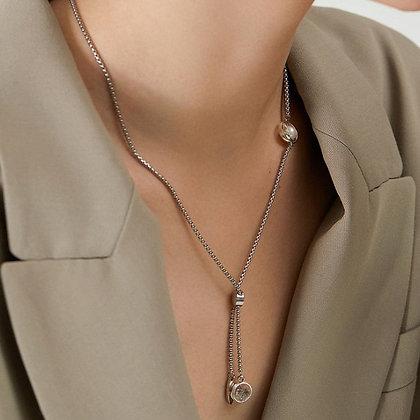 AGARIC GARDEN - Aura 雙尖水晶與珍珠Y字鍊