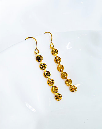 Adam Minusculave - A DAMN AVE COLLECTION | 14K GOLD FILLED DOTTED LONG EARRINGS