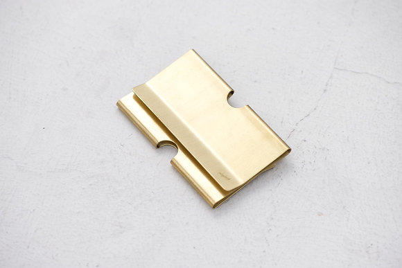 Playback - Brass Card Clip