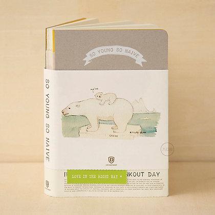 九口山X沈欣茹 - 又小又天真系列筆記本 - 北極熊 06