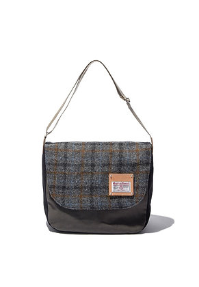 The earth - HARRIS TWEED CROSS BAG - GREY