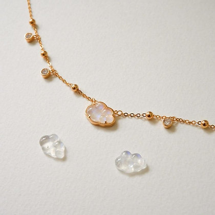 DREAMNICKER - Bubble cloud necklaces (Moonstone)