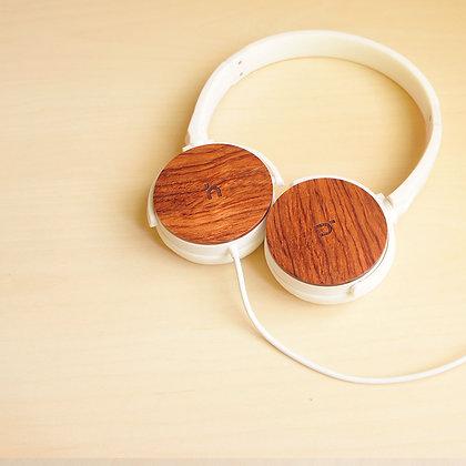 hoomia U3 經典木質摺疊耳機 (白)