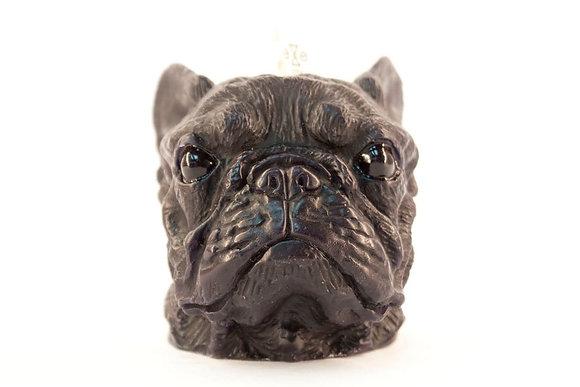 EYECANDLE - 黑色法國鬥牛犬造型蠟燭
