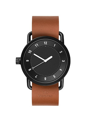 TID No.1 Black / Tan Leather Wristband