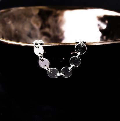 Adam Minusculave - AT THE EDEN COLLECTION   SILVER DIT AND DOT CHAIN RING