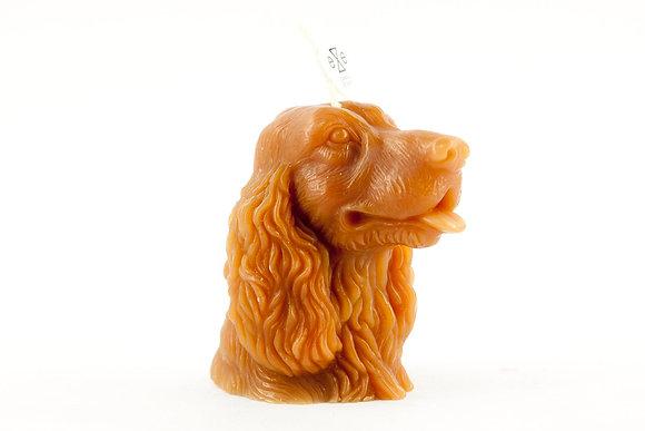 EYECANDLE - 咖啡色可卡犬造型蠟燭 COCKER DOG CANDLE