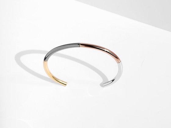 MADEGREY - Iconic 4-Tone Cuff Bracelet   Bronze