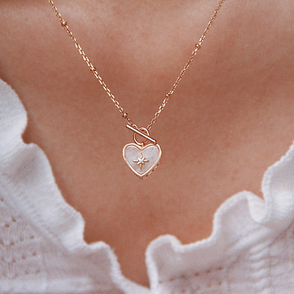 Love By The Moon - Lover Gold Necklace (Moonstone)