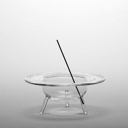 clear b - Glass Incense Burner L