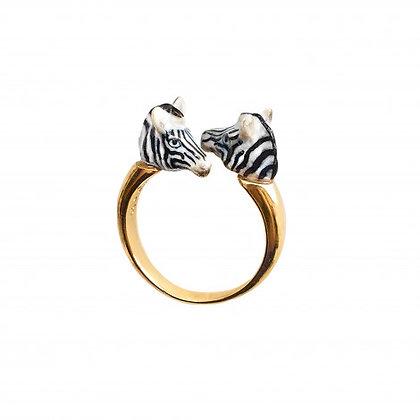 NACH BIJOUX - Zebra Face to Face Ring