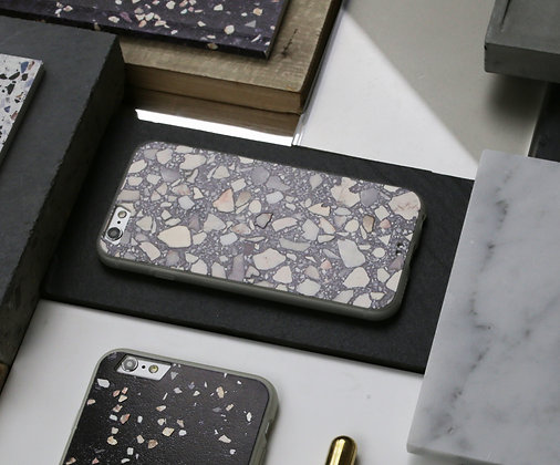 GREY TERRAZZO IPHONE CASE - IPHONE 6S / 7