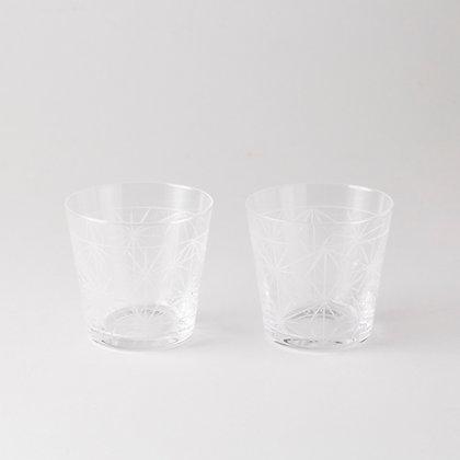 中川政七商店 - 麻葉紋玻璃對杯 180ML