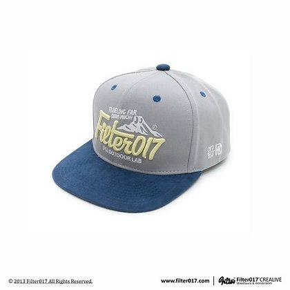 OUTDOOR LAB LOGO SNAPBACK 山形LOGO後扣式棒球帽 (灰+藍)