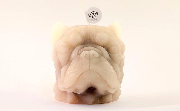 EYECANDLE - 奶油色法國鬥牛犬造型蠟燭
