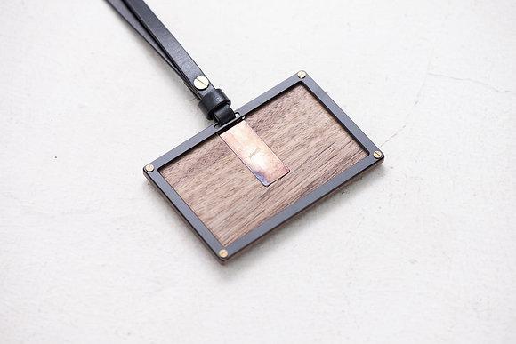 Playback - Travel Card Holder - Walnut Wood