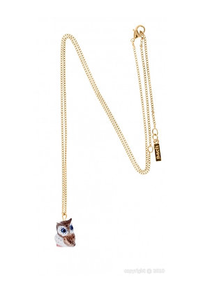 Nach - Blue eyes Owl mini necklace