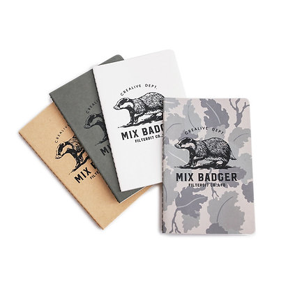 Filter017 x 九口山 Mix Badger Pocket Mini Notes