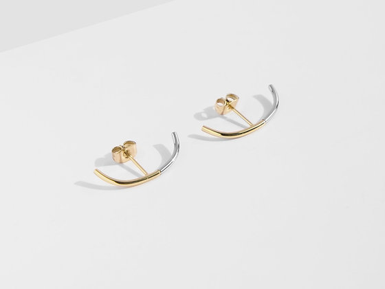 MADEGREY - 2-Tone Cuff Earrings | Gold