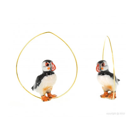 Nach - Atlantic puffin Creoles Earring