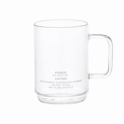 PUEBCO INC. - BOROSILICATE GLASS MUG Shallow Stacking 玻璃馬克杯 340ml