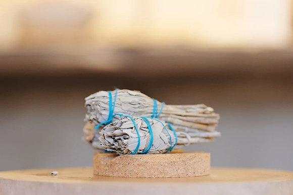 SLOWOOD - 迷你白鼠尾草煙燻棒 Mini White Sage Smudging Bundle