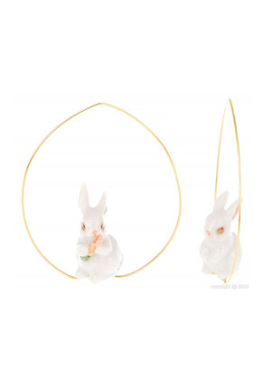 Nach - White Rabbit Couple Earrings