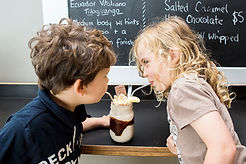 kids enjoying milkshake