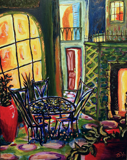 In the Courtyard: SOLD