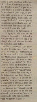 Skin tattaoo e piercing no Jornal
