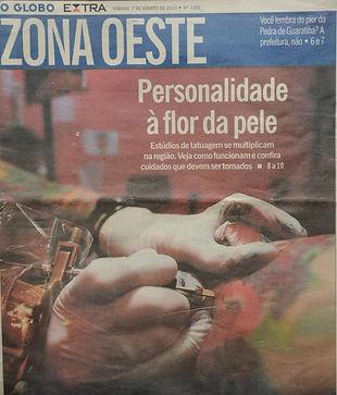 Skin tattaoo e piercing no Jornal Zona Oeste