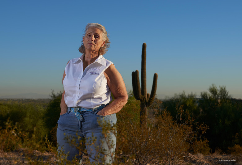 "Idella Hansen, 67, Camden, Arkansas (met in Phoenix, Arizona) - from the series ""Sisters of the Road"""