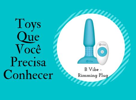 B-Vibe Rimming Plug Anal- Com rotação e vibração