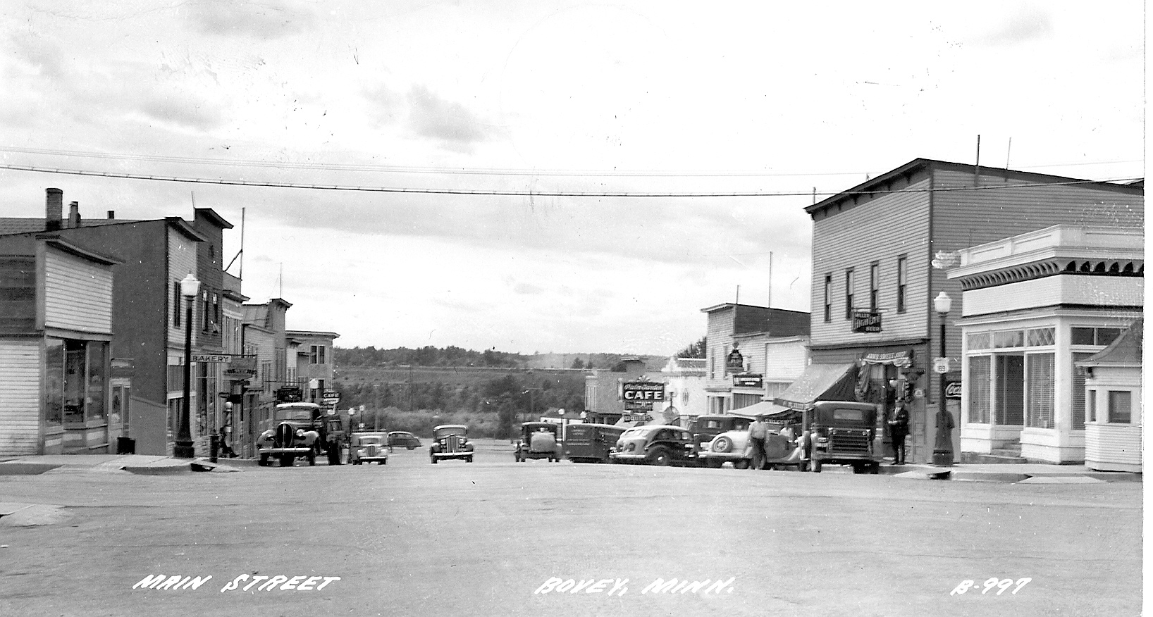 Main Street down hill 1936