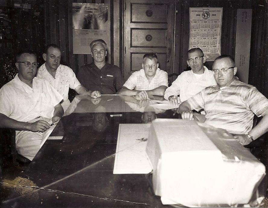 WALTER BUBANY, VERN WILSON,HARVEY JOHNSON, MARVIN MUOTKA, SAM DIMICH, JOHN SHUSTARICH