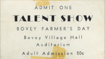 Talent show ticket