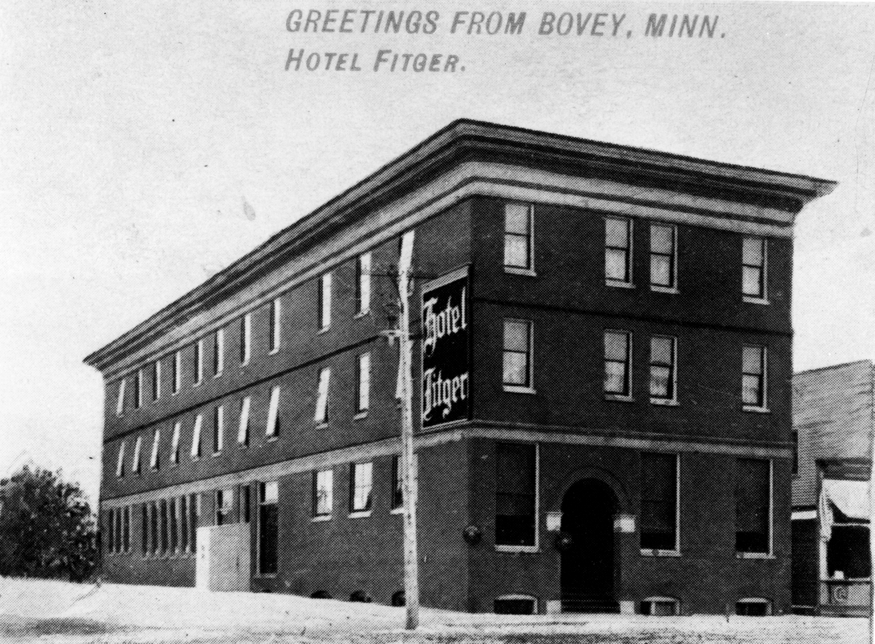 Greeting Fitger Hotel 1923