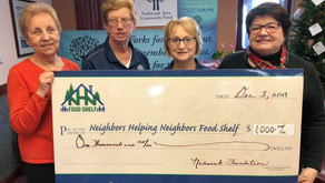Nashwauk Area Community Fund awards $1,000 to Neighbors Helping Neighbors Food Shelf