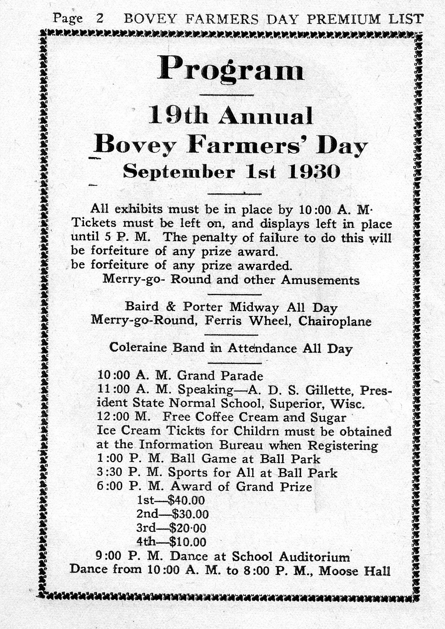 1930 Program