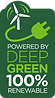 100% Renewable Deep Green Logo (Transpar