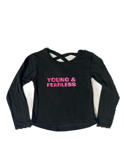 Little Girl Black Young & Fearless Top