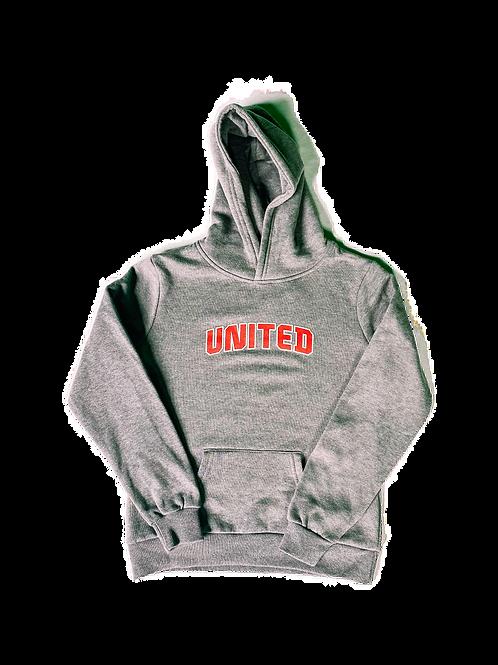 """Kids Grey """"United"""" Hoodie"""
