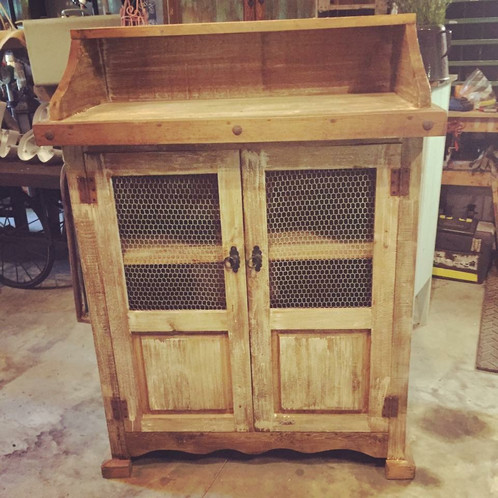 Beautiful Rustic Cream Jelly Cabinet! Perfect Kitchen Cupboard, Coffee Bar  Or Towel Cabinet! Local Pickup Only 57.5u201d Tall 20u201d Deep 42u201d Wide