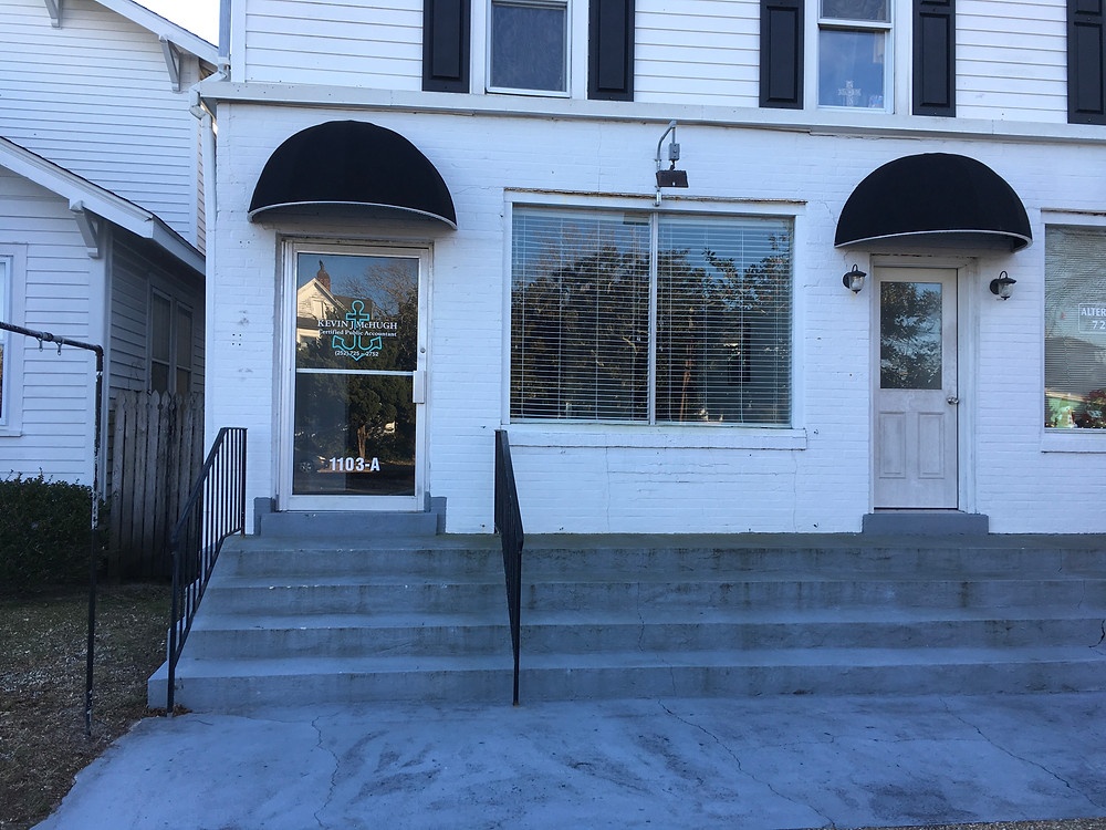Front view of the new studio, 1103-A Arendell St, Morehead City NC 28557