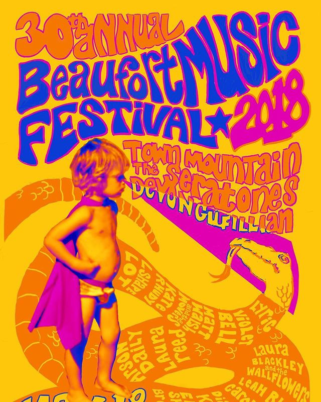 30th Annual Beaufort Music Festival poster.