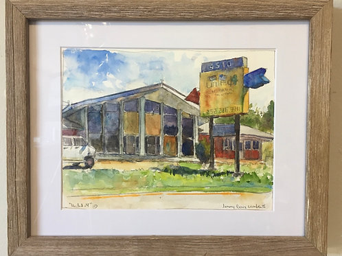 """United #4""  framed original watercolor"