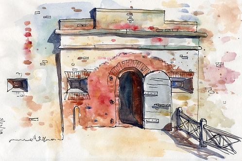 South Entrance, Fort Macon sketch